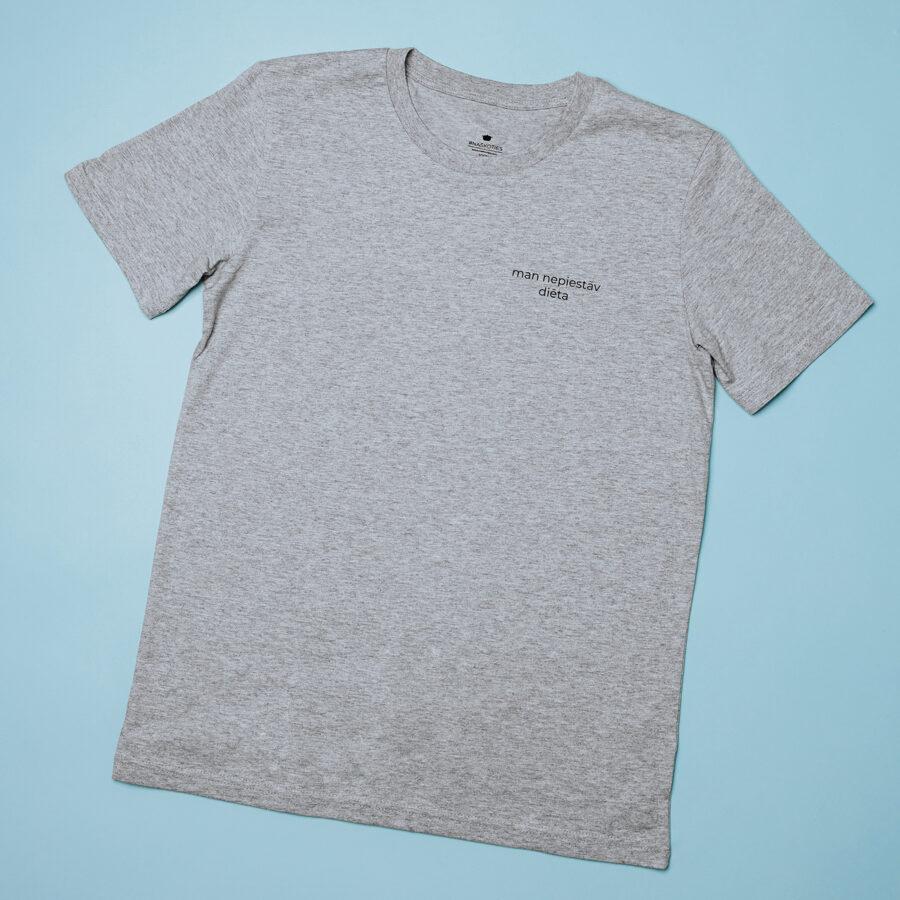 """krekls """"man nepiestāv diēta"""" pelēks"""