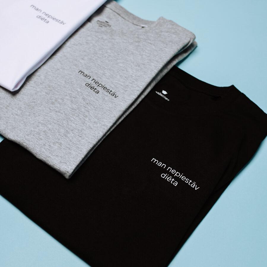 """krekls """"man nepiestāv diēta"""" melns"""