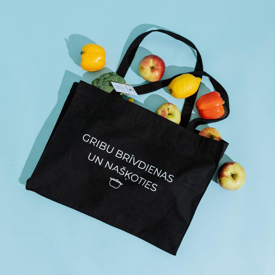 большая сумка для покупок «gribu brīvdienas un našķoties»